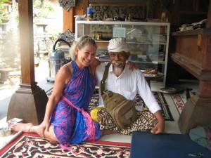 Studying with Balinese Healer Pak Gusti. Ubud, Bali