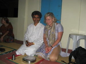 Studying with Russill Paul. Shantivanam Ashram, India